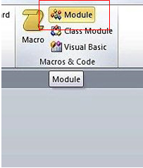 The Macros and Code tab of the Ribbon